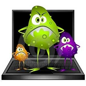 Image result for gambar komputer virus kartun